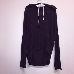 A&F Stripped Hooded Pullover